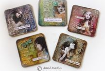 Altered Beer Mat Coasters / by Danielle Batog