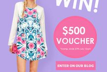 $500 Competition / We're giving you the chance to WIN $500 Gift Voucher each week !!  Winner will be announced on the 27th of July 2014 / by Stelly Clothing