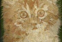 IS THIS YOUR CAT? Handmade leaf art collectible / by Rajan Koshy