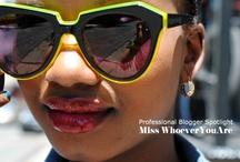 She's So Catty / Cat eye style sunglasses & eyewear / by Greet The Sun