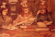 Impressionist Painters / Manet,Morisot,Bazille,Cassatt,Monet,Renoir,Cezanne,Sorolla,Sisley,Gauguin,Pissarro, Degas, Childe-Hassam,Israels,Whistler,Breitner. / by jose de la vega
