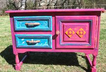 Painted & Papered Furniture / I love the idea of giving new life to old furniture by painting it. / by PatchouliRose