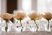 Sherin Koshy Cocktail Hour  / Sweet, Elegant, yet simple small table arrangements for approx. 16 indoor tables.  / by Tammy of Sincerely Yours Events, Inc.