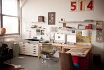 Studios & work spaces / by Jennifer Dix