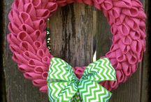 Wreaths!! / Wreaths to adorn the home.  / by Amy Green