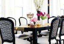 BLACK AND WHITE ROOMS - ALWAYS IN STYLE / Black and white rooms / by South Shore Decorating