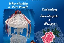 Machine Embroidery, $1.00 embroidery designs, Applique, FSL, High Quality Low Price / Embroidery designs, FSL projects, Applique, free standing lace, Machine Embroidery. / by Connie Griffice-Perry