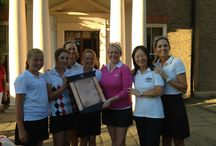 Bucks Challenge Shield / The Stoke Park ladies team celebrating their win in the Bucks Challenge Shield / by Stoke Park