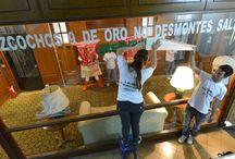 Ocupamos las oficinas de Molino Cañuelas. / Activistas de Greenpeace entraron esta mañana y ocuparon las oficinas de la empresa Molino Cañuelas S.A., fabricante de los bizcochos 9 de Oro entre otros reconocidos productos, para exigir a los dueños de la empresa que no ejecuten el desmonte de más de 6.000 hectáreas de bosques salteños protegidos por la Ley de Bosques. Sumate en www.greenpece.org.ar/bizcochodesmontador / by Greenpeace Argentina