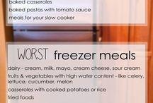 Freezer meals / by Sarah Jones