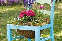 lawn chair decoration / by Jane AnnJimmie Britt