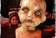 Creepy dolls / Creepy dolls inspire me to create creepier dolls.  / by Gina Orr