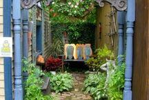 Secret Garden / ideas to beautify otherwise useless yard space, ie: yard area along house or garage / by Erin Backous Binksma