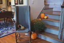 ~Primitive Fall Ideas~ / ~These are images of some wonderful ways to decorate for fall while still maintaining the primitive look~ / by ~Yesterday Once More~