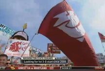 WSU Flag at Gameday / A grassroots movement to wave the flag on ESPN's College Gameday show started in 2003 and continues to this day. / by Washington State Cougars