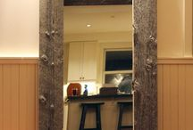 "Full Size Reclaimed Wood Mirror / This full Size mirror is a great fit for any space. Measuring at approx. 60"" tall and 36"" wide it is perfect to stand up, on the floor, or hang on the wall with the included hardware.  #mirror #rustic #reclaimedwood #design #house #home #barnboard #barnwood #furniture / by Mono Centre Salvage & Wood Co."