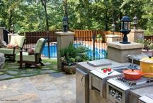 Outdoor Kitchen / An outdoor kitchen is a popular choice now for lot of people, as you are not required to specialize a particular room for this kitchen, but you can place it in the yard, in the garden or use it in the occasional cooking. In the outdoor kitchen, you can get modern appliances that you like to have, and you have also additional benefits of cooking and eating alfresco. / by kitchen designs 2014 - kitchen ideas 2014 .