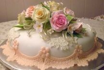 Cakes / My honey loves decorated cakes almost more than I do. He chose our wedding cake. : ) / by Regina Belshe Steele