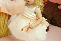 Flower Girl Dresses / Cute ivory ball gown flower girl dresses / by Meng Jin