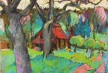 Oil Pastel Art & Canvas Painting Ideas / by Naomi Lemmon