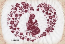 Red cross stitch / by Meta Brouws