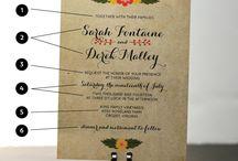 Invitations/ programs/ place cards (wedding) / by Megan Elizabeth