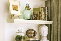 Home Decor. (Misc.) / This board contains miscellaneous decorating ideas (shelves, arranging art and pictures, pillows, misc. objects, decorating tips, etc.) for most any room. / by Sheri Helman