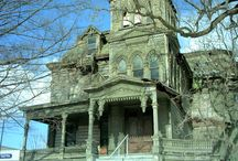 Creepy Houses / Abandon homes / by Customized Walls - Custom Printed Wallpaper and Murals