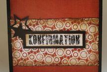 Cards - Konfirmation Boys * / by Pernille Olivia Jørgensen