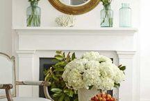 Mantle decorating!  / by Jessica Adams-Harrah