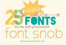 printables/fonts / by Nancy Stover