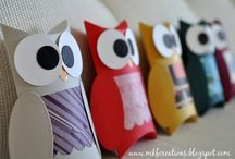 Owl Obsession. OvO / by Sarah Quinn