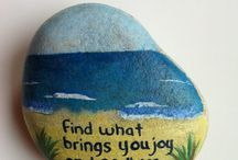 Hand-painted Rocks (DIY) / Cute Pictures of Hand-painted rocks to 'PIN' spire me to create some of my own! / by Christine Jensen