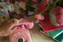 PINK / by Laura~Pink Cake Plate