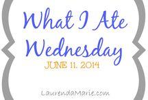 What I Ate Wednesday   LaurendaMarie.com / by Laurenda Bennett