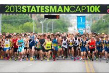Statesman Cap 10K Race Day Past & Present / This is what the Cap 10K race day is all about - fun, music, race bibs, race T-shirts, and iconic pictures of beautiful Austin, TX.  / by Statesman Cap10K Race