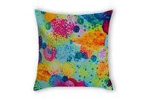Ebi Emporium @ Lolli Linen in AU / Ebi Emporium #fineart throw #pillows are NOW available in #Australia via #LolliLinen #bedding and #homedecor #bedroom #accessories! http://www.lollilinen.com #decor #decorative #cushion #velveteen #colorful #art  / by Julia Di Sano