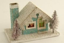 Christmas Vintage-Putz Houses / by Angela Palmer