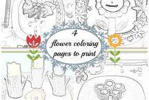 Coloring pages / by Gosia | Kiddie Foodies