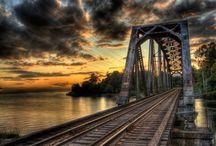 The Steel Rails:  Trains in America / by Kathleen Sheridan