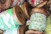 Ribbons, spools, threads,fabric... / by Fanny Castañón de Saenger