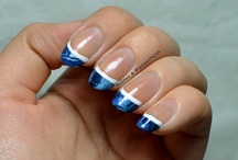 Funky French Tip Nails / by Inspirationail