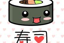 Sushi すし / Sushi Cartoon & Stuff / by Skarlet Von Troubles