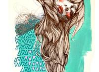 Ilustraciones / by Ma_ri_pi (Todos mis Esmaltes)
