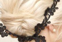 Bling & Bangle Headsie / #headbands, #hair clips, #hats, #caps, #hair decor, #feathers, #head scarf / by Karen Chapman