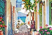 Watercolor paintings I admire  / Paintings I admire, found on Pinterest.   / by myprettyoffice.com