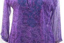 Kurta Styles / Kurti, Tunics, Women, Top, Emproidered, Cotton / by Elisabeth Wilde