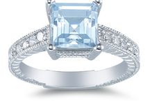 Aquamarine Jewelry and Rings / by ApplesofGold.com