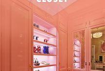 Kerry ' dressing room, vanity, closet / by Kerry