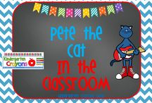 Pete the Cat in the Classroom / Here are my favorite Pete the Cat materials that I like for my kindergarten classroom.  / by Kindergarten Crayons